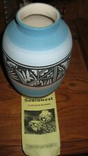 """Vintage Mesa Verde Pottery Handmade Signed By """"Wing Lhe 10"""" High 6"""" Round"""