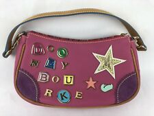 Dooney & Bourke Pink Leather Purse Rainbow Zipper Limited Edition Charm #1