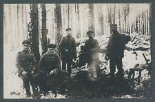 Foto 9. Armee Ostfront Przasnysz Feldtopograph Köhlitz Hund Wald Abkochen 1915