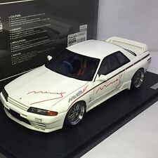 1/18 IG ignition Nissan SKYLINE GTR R32 Mine's White IG0672