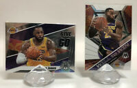2019-20 Panini Mosaic Lebron James Lot Of 2 Inserts Will To Win Give & Go Lakers