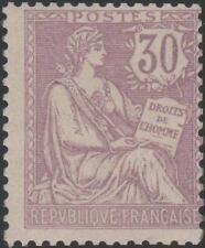 "FRANCE STAMP TIMBRE N° 128 "" MOUCHON RETOUCHE 30c VIOLET 1902 "" NEUF xx TB J932"