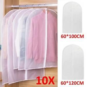 10xStück Kleidersack Anzughülle Kleider Kleiderhülle Schutzhülle Kleidersäcke