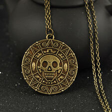 Pirates of the Caribbean SKULL COIN TREASURE Pendant Chain Necklace Fancy Gift