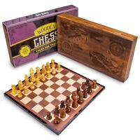 Wooden Chess Set | Classic Strategy Game, Folding Wooden Chess Board