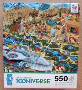 A 550 PIECE JIGSAW PUZZLE BY TOONIVERSE - BUILDING THE PYRAMIDS