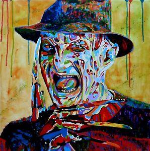 Limited Edition Artwork Giclee Print Freddy Krueger Fauvist Art By Warren Green