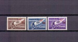 BELGIUM 1942 railway overprints set mnh** TR 291/93