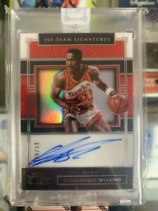 2019 Panini One and One Dominique Wilkins 1st-Team Signatures Auto 61/99 SJ