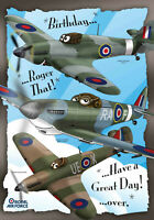 Birthday Cards, Aircraft New and Old, Reductions for multi buys, free envelope