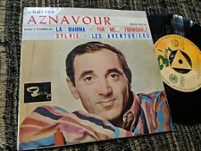 CHARLES AZNAVOUR LA MAMMA/FOR ME...FORMIDABLE/+2 7'' EP 1963 SPAIN ESPAGNA