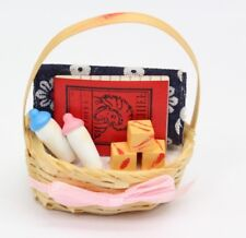 NEW Dolls House Miniatures Filled Basket Decoration 1/12th Scale FREE P&P