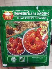 MEAT CURRY POWDER 25GM (0.88 oz) MALAYSIAN BRAND BABA'S - FREE TRACKING NUMBER