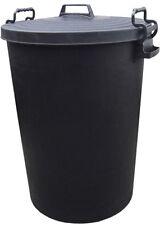 LARGE 110L LITRE BIN HEAVY DUTY BLACK PLASTIC RUBBISH WASTE DUSTBIN LOCKING LID
