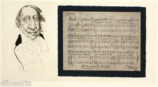 Charles BRAGG - 'Rossini' - Original Etching Signed