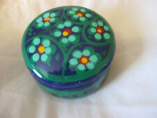 Clay Blue and Green Trinket Pin Box   CL31-36