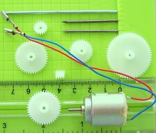 NEW Mabuchi 3VDC Motor RE140RA , with  White Plastic Gears, & Shafts