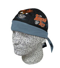 MOTORCYCLE SKULL CAP HEADWRAP DO RAG HEAD RAP DU RAG LEGEND LIVES