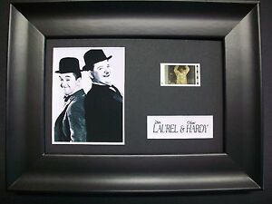 LAUREL AND HARDY Framed Movie Film Cell Memorabilia Compliments poster dvd