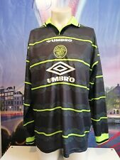 Vintage Celtic 1998 1999 away shirt Umbro football top l/s jersey size L