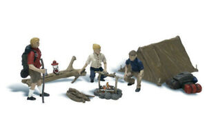 Woodland Scenics ~ N Scale People ~ Campers ~ A2199