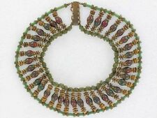 Beautiful Large Egyptian Miriam Haskell Collar Necklace (NK1752)