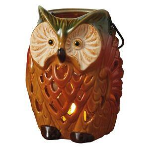 Design Imports Rustic Ceramic Owl Lantern ~~  Fall Must-Have ~~ NEW