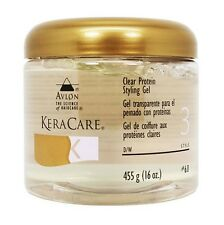 Clear Protein Styling Gel Hair KeraCare Avlon 16oz New