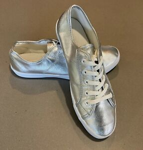 HOLSTER Metallic Comfy Pearl Silver Sneakers. Sz EUR 40