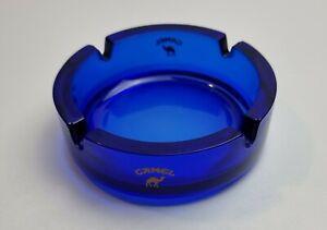 CAMEL Aschenbecher Glas Glasascher Zigaretten Ascher Blau Werbung Kamel