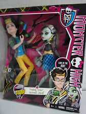 Monster High-Frankie Stein & Jackson Jekyll (picnic casket for 2) - nuevo + embalaje original