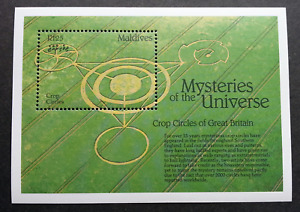 Maldives Mysteries Of The Universe Crop Circles 1992 UFO Sign? (ms) MNH