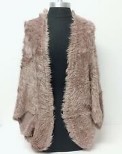Women Brown Faux Fur Outerwear Cape Shawl Stole Wrap Shrug Scarf Wedding/Party