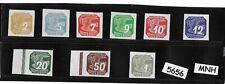 #5656     Full MNH 1943 WWII stamp set / Newspaper Third Reich German Occupation