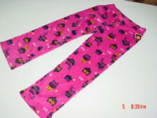 NWT Womens Girls Owl Print Knit Fleece Sleep Pants Halloween Pink Pajama Bird