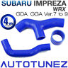 Silicone Intercooler Hose Pipe Kit For Subaru Impreza WRX Version 7 to 9 GDA GGA