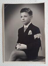 FOTO  D'EPOCA -  BAMBINO PRIMA COMUNIONE 1952
