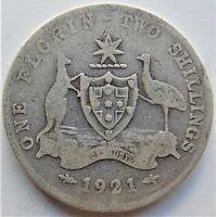 1921 AUSTRALIA George V,  Florin,Grading VERY GOOD.
