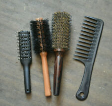 Joblot Bundle 4 Hair Brushes 1 BARNUM YSOCEL £22 new 1 round 1 Afro Comb 1 small