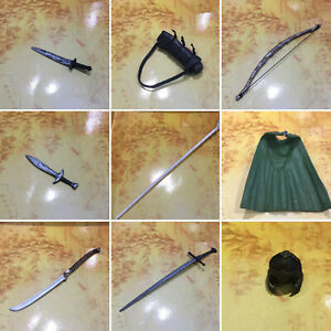 """LORD OF THE RINGS LOTR 6"""" ACTION FIGURE ACCESSORIES - DWARF ELF HOBBIT SWORDS"""