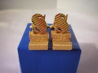 Vintage Gold Tone Letter S Cufflinks by DANTE