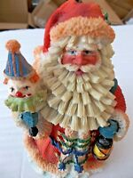 Old World Santa with Clown and Lantern Polystone Figurine