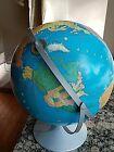 VTG 1970's Modern School Continental Globe Series Replogle 12 inch Relief Globe
