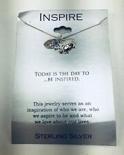 """Footnotes INSPIRE Sterling Silver Necklace""""Cute as a bug"""" Lady Bug NEW"""
