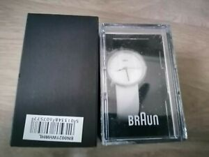 Braun Ladies Stainless Steel Quartz Watch White Leather strap Strap BN0021WHWHL