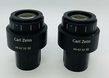 Pair Of Zeiss E Pl 10x20 Plan Microscope Eyepieces 30mm Part 444232 Axio