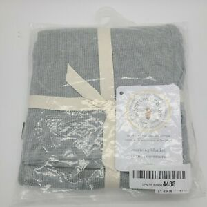 Burt's Bees Baby - Receiving Blanket, 100% Organic Cotton Swaddle NWT Grey