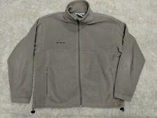 Columbia Fleece Jacket Men's XL Full Zip Beige Gray