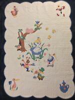 Vintage Disney 1950s Alice in Wonderland Progress Kit Crib Quilt No.1387 Blanket