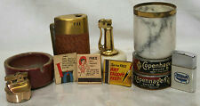 VINTAGE LOT OF ASSORTED TABLETOP LIGHTERS, MATCHBOOKS AND ASHTRAYS